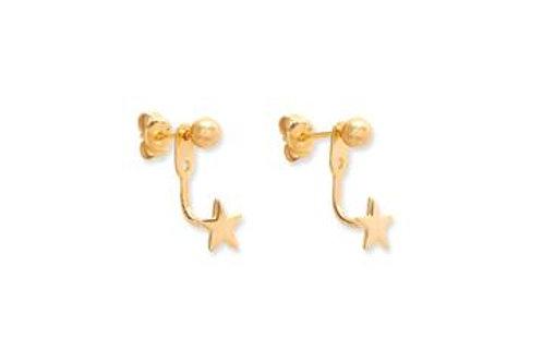 Davalos Gold Star Earrings
