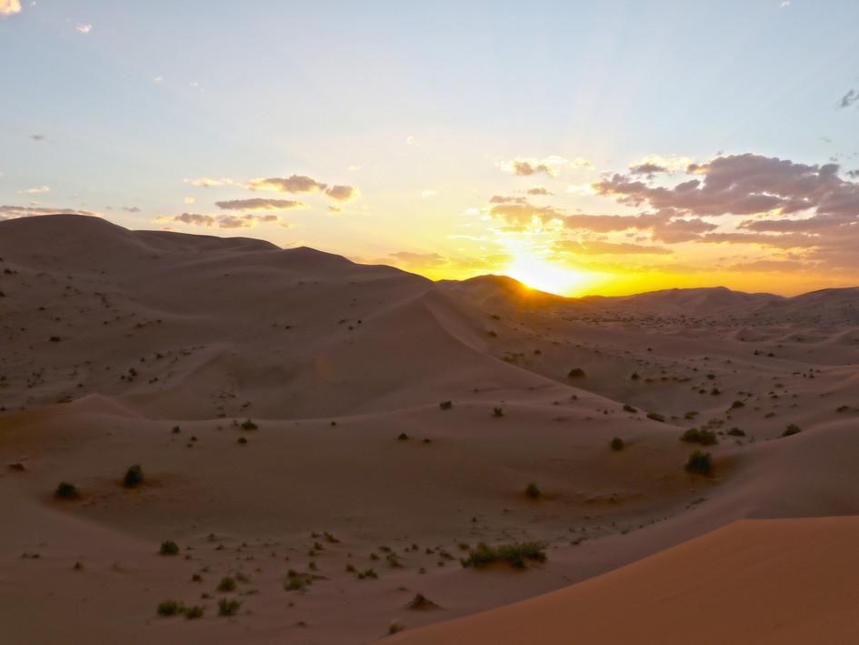 Sunset of Sahara Desert