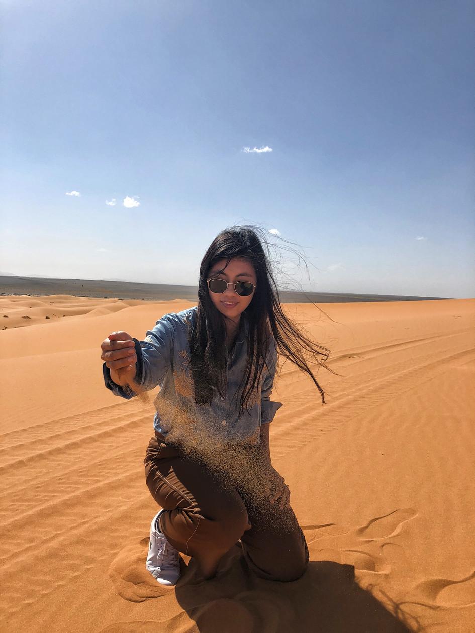 Sand at Sahara Desert is really soft.