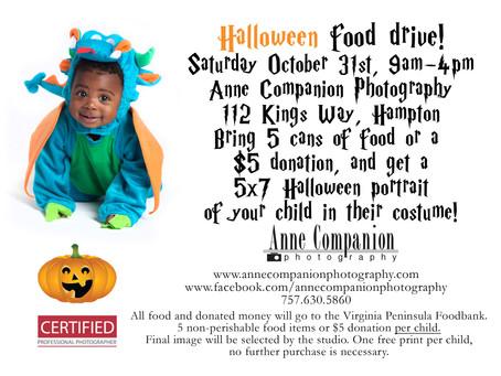 Halloween Portraits Food Drive!