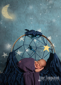 Newborn in a dream catcher