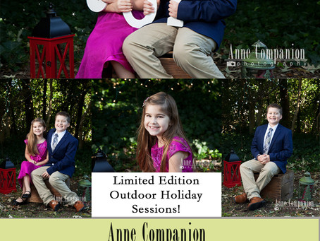 Limited edition outdoor holiday sessions!