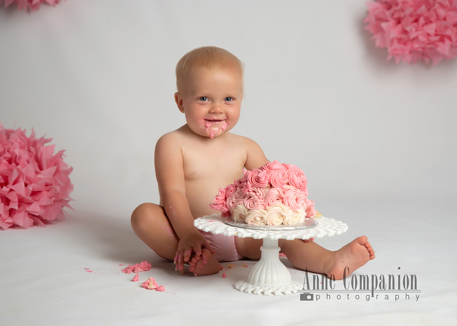 Cake smash photography Hampton Roads Va