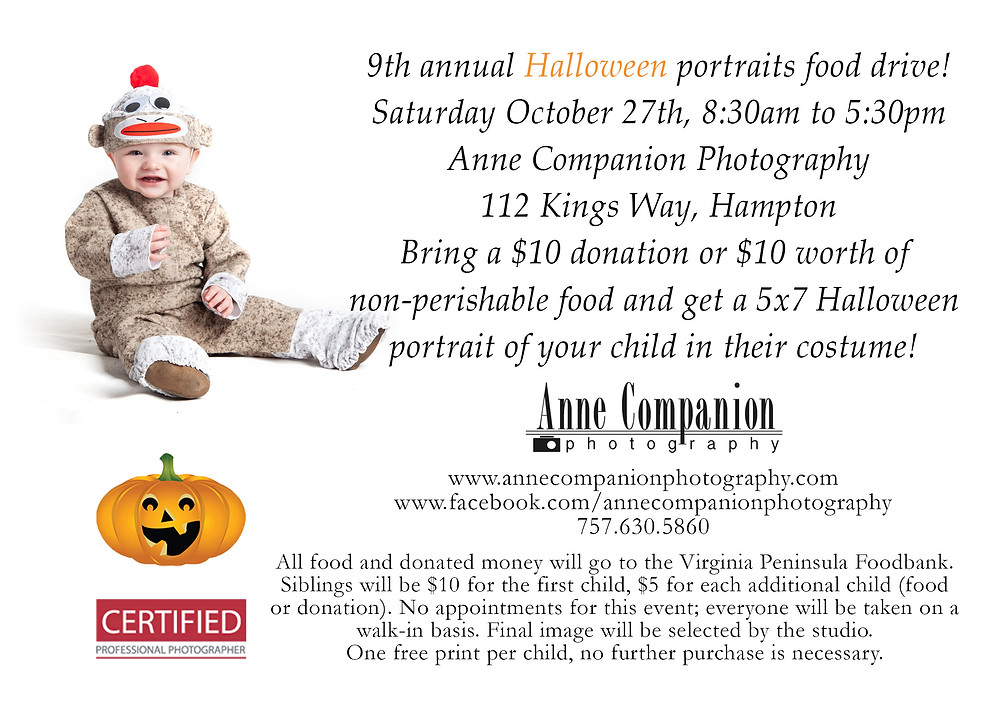 Hallowen portraits food driver flyer Oct 27th