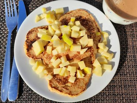 Havermout pannenkoek met appel