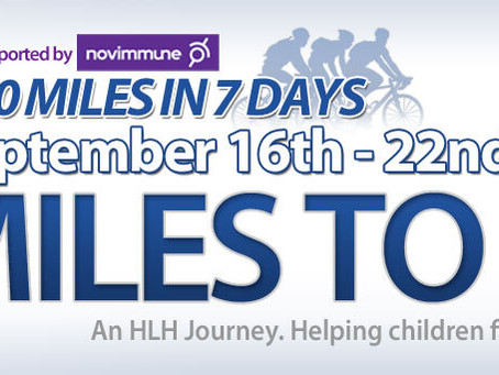 Mark is on track to cycle 700 miles in 7 days for HLH Cincinnati Children's Hospital