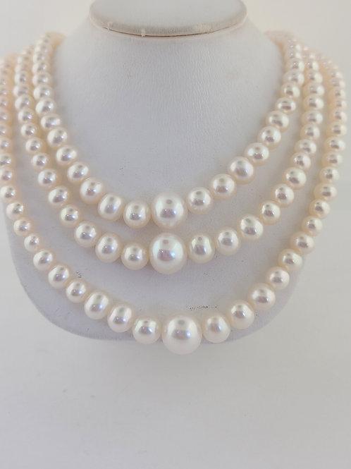 Three strand pearls
