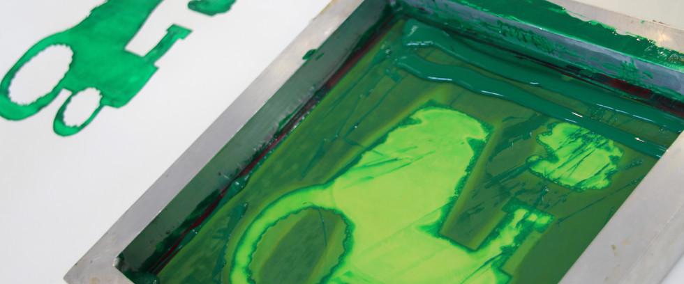 Screen printing (age 6)