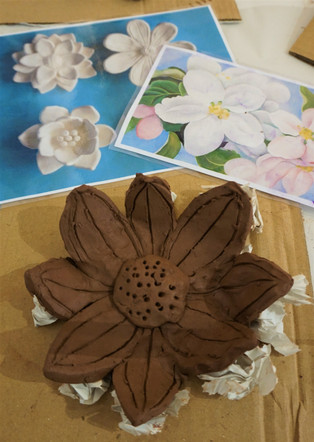 Clay flower (age 10)