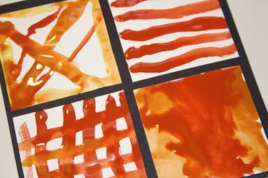 Earth paint tiles (age 7)