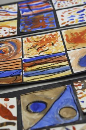 Earth paint tiles