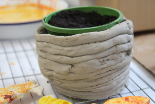 Clay coil flower pot (age 8)