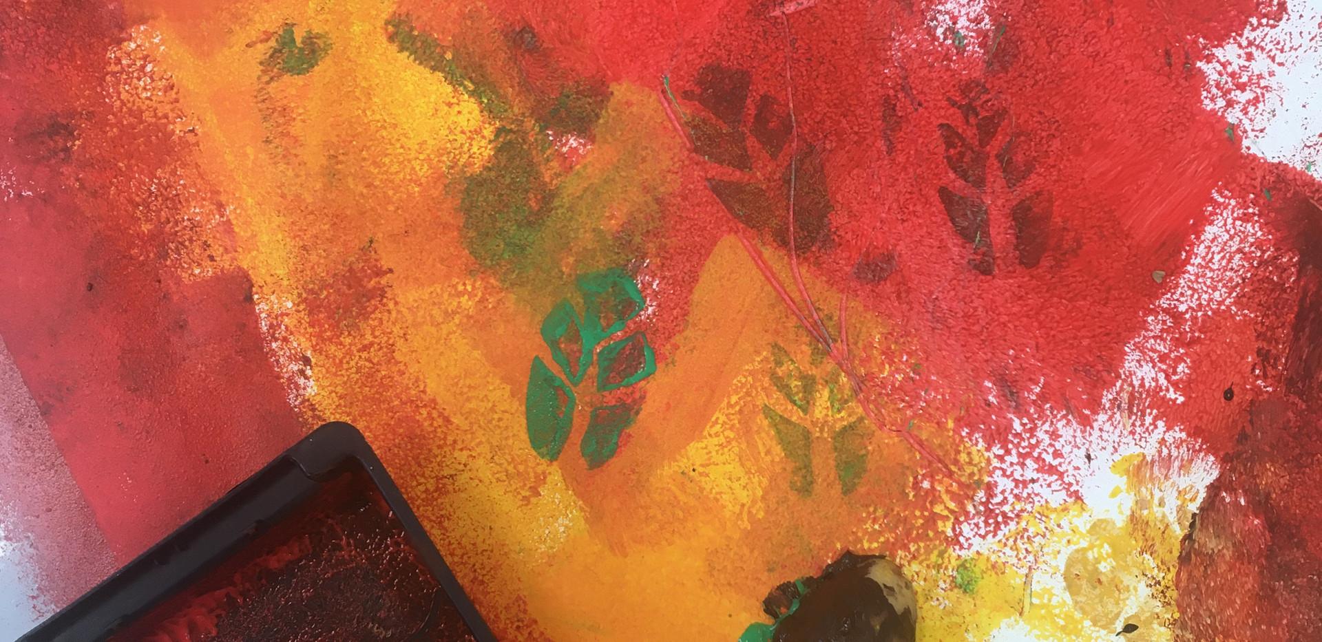 Pre-school roller painting