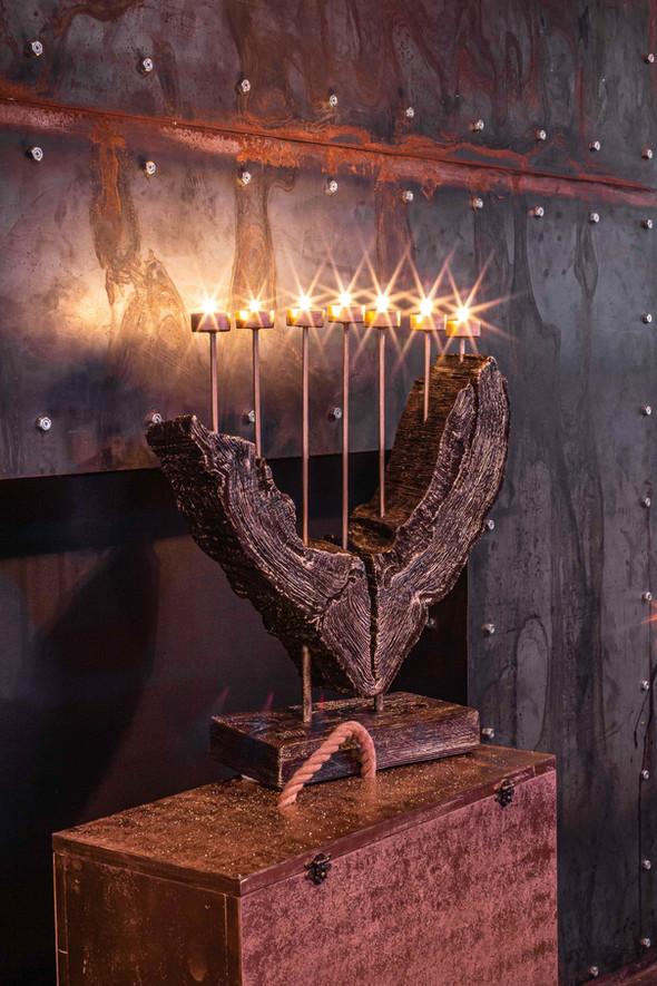 The Grand menorah | Wood Carving