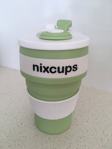 Green Reusable Collapsible Silicone Cup