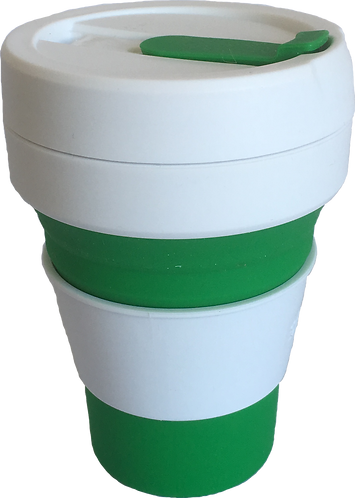 Stojo Green Reusable Collapsible Silicone Cup