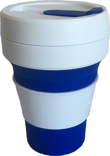 Stojo Blue Reusable Collapsible Silicone Cup