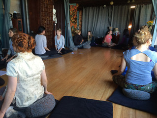 Dyads at Reiki Training