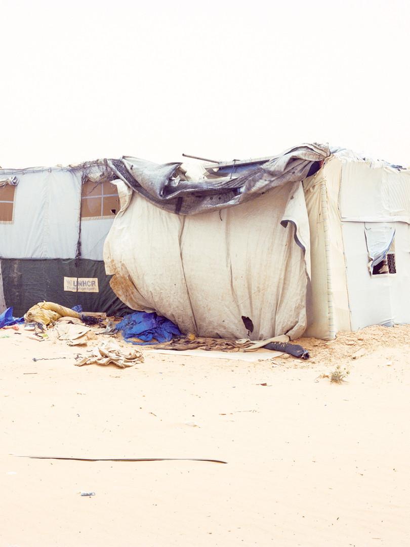 Samuel Gratacap, Camp de Choucha en Tunisie, série Empire, 2012-2014