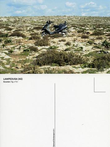 Samuel Gratacap, Carte postale de Lampedusa, série La Chance, 2011