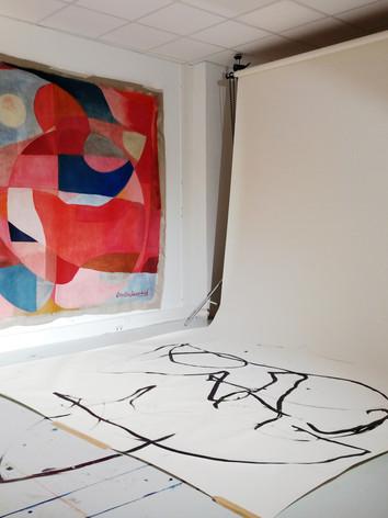 Atelier de Caroline Denervaud, janvier 2020, Paris
