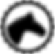 B&W Horse Head Logo