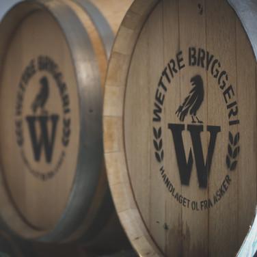 Ølfat på Wettre Bryggeri