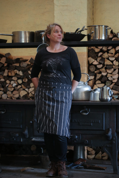 Johannica i bakeriet på Håøya