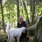 Johannica med geitene på Håøya