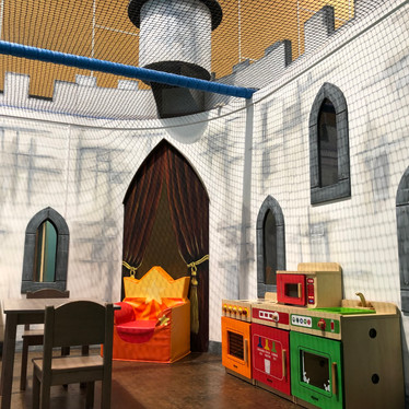 Play house in the castle at Head Over Heels Play Chorlton
