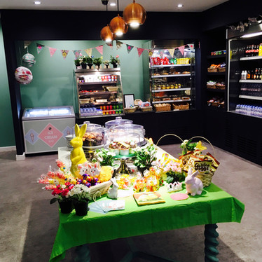Enjoy large selection of cakes, snacks and drinks from the Pantry at Head Over Heels Wilmslow