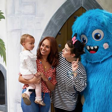 Meet Hairy our big blue friend at Head Over Heels Play Chorlton