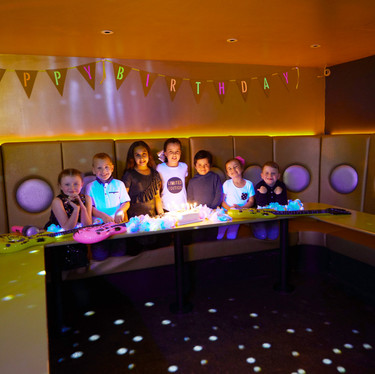 Enjoy children's parties in our glamourous super star studio party room at Head Over Heels indoor play Chorlton Manchester