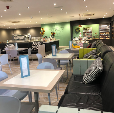 Large comfortable seating in the family restaurant at Head Over Heels Wilmslow