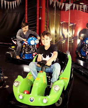 Children aged three and over can race around the car track for £1