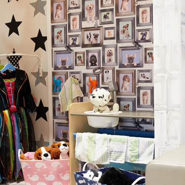 Pooch parlour inside giant play house at Head Over Heels Play Chorlton