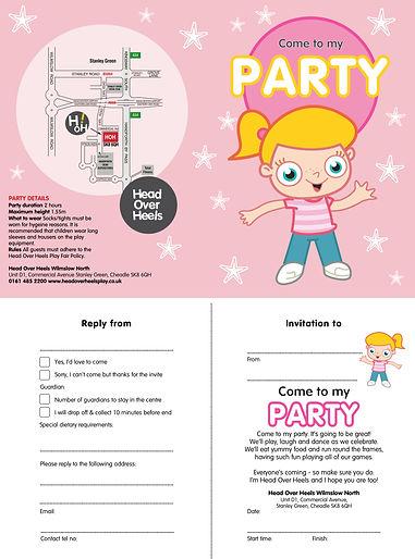 Head Over Heels Pink Party Invite Wilmls