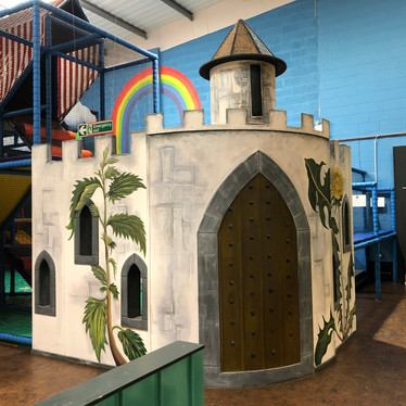 Play in the castle in the toddler area at Head Over Heels Play Chorlton