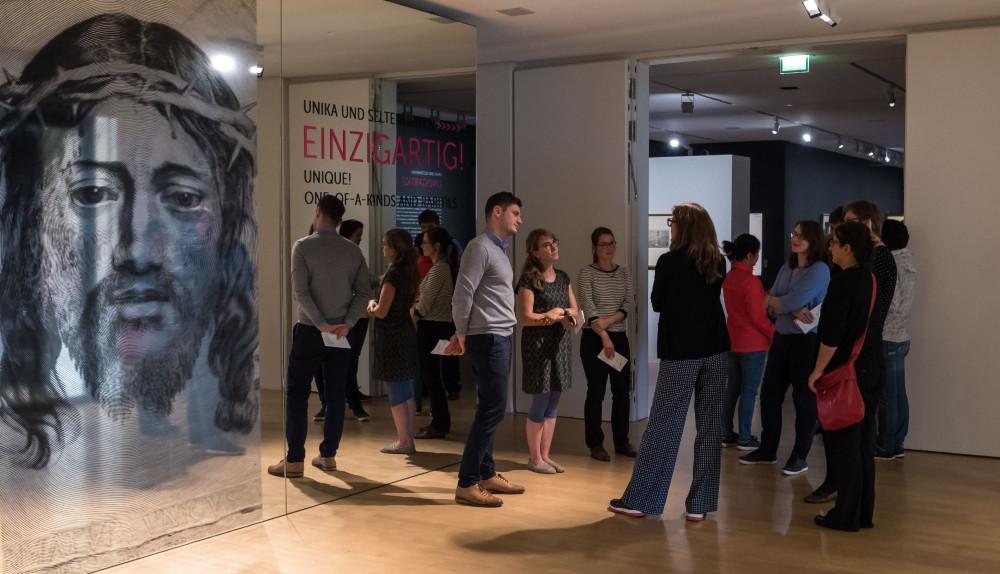 Ars Graphica DE am 7.9.2017 im Dresdner Kupferstich-Kabinett beim curatorial walk mit Stephanie Buck und Marion Heisterberg, (c) SKD - Andreas Diesend