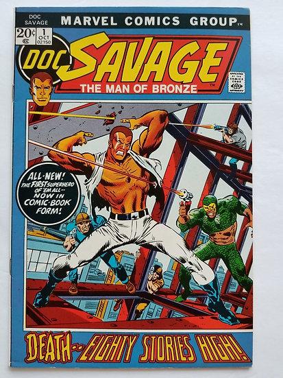 Doc Savage (1972 Marvel Comic) #1 VF 1st Modern Appearance of Doc Savage