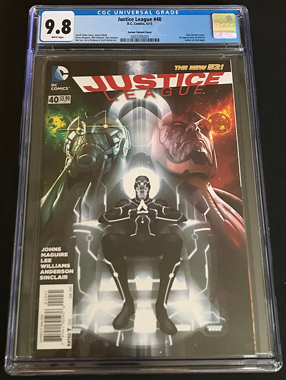 Justice League 40 CGC 9.8 White Pages