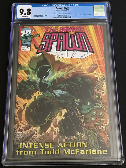 """Spawn #220 """"Savage Dragon"""" Variant Cover CGC 9.8 White Pages"""