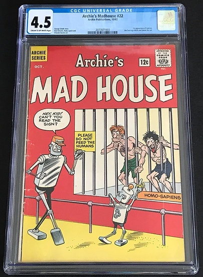 Archie's Madhouse #22 CGC 4.5 Cream To Off White Pages