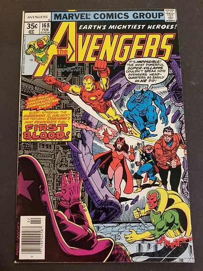 Avengers (1963 1st Series) #168 VF- [Guardians of the Galaxy appearance.]