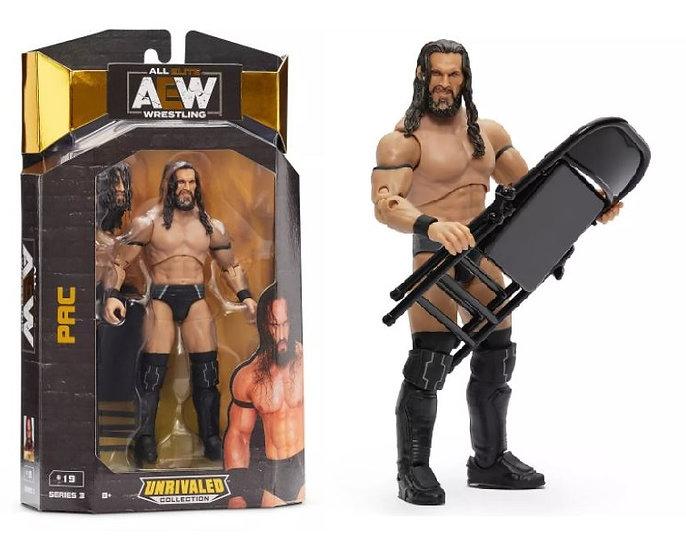 AEW Unrivaled Series 3 Pac Wrestling Figure
