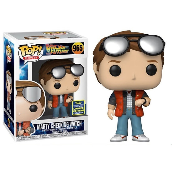 Funko Pop Back To The Future #965 Marty Checking Watch [SDCC Exclusive]