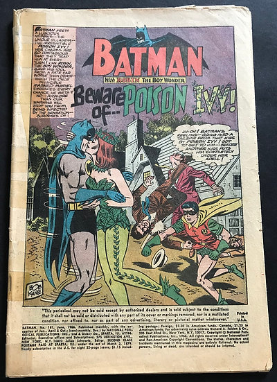 Batman 181 [1st Poison Ivy, with Centerfold Taped]