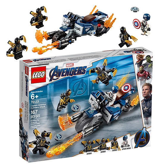 Lego Marvel Avengers Captain America:Out riders Attack 76123