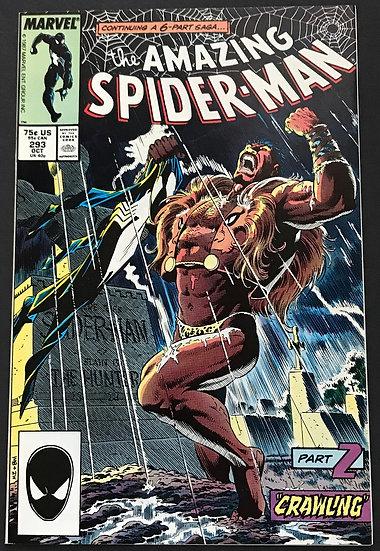 Amazing Spider-Man (Marvel) #293 NM [Kraven Story]