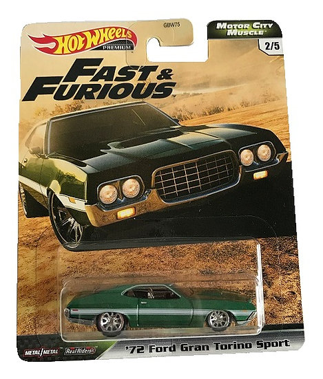 Hot Wheels Premium Fast And Furious '72 Ford Gran Torino Sport